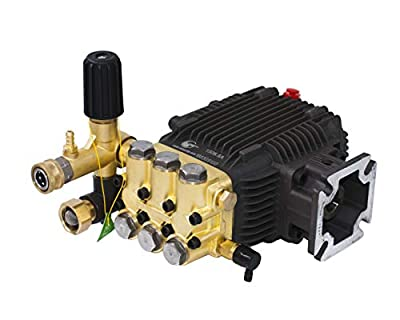 "CANPUMP Triplex High Pressure Power Washer Pump 3.1 GPM 3000 psi 6.5 HP 3/4"" Shaft fits Cat General AR"