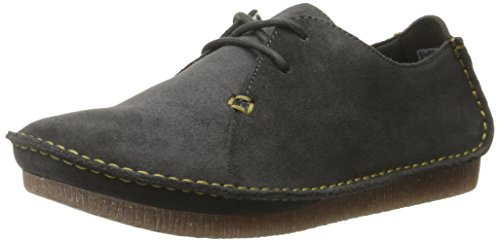Janey Suede Grey Oxford CLARKS Mae Women's Dark 5cw4Rqc8Ux