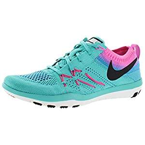 Nike Free Flyknit Focus Womens Training Shoes Sneakers Green Size 8
