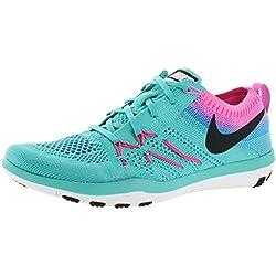 Nike Free Flyknit Focus Women's Training Shoes Sneakers Green Size 10