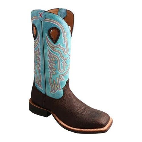 5ed724f9bca Twisted X Men's Light Blue Ruff Stock Cowboy Boot Square Toe ...