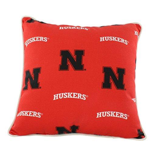 Nebraska Cornhuskers Throw Pillow - College Covers Nebraska Cornhuskers Outdoor Decorative Throw Pillow, 16