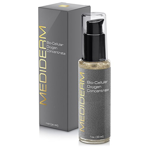Mediderm Bio-Cellular Oxygen Facial Firming Treatment and Rejuvenation Cream Lotion with Antioxidants for Acne Prone and Oily Skin