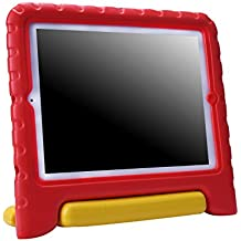 HDE Shock Proof iPad Case for Kids Bumper Cover Handle Stand for Apple iPad 2 iPad 3 iPad 4 (Red & Yellow)