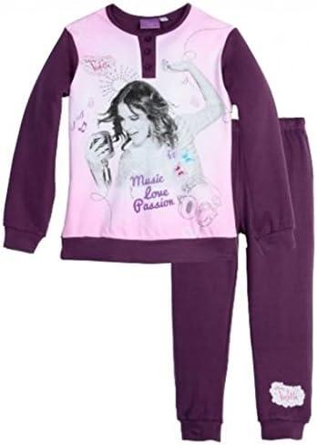 Violetta-pijama, diseño de Violetta de largo, en estuche, 6 años, 6, 8, 10, 12 años, siete años y 11 años morado 6 años: Amazon.es: Ropa y accesorios