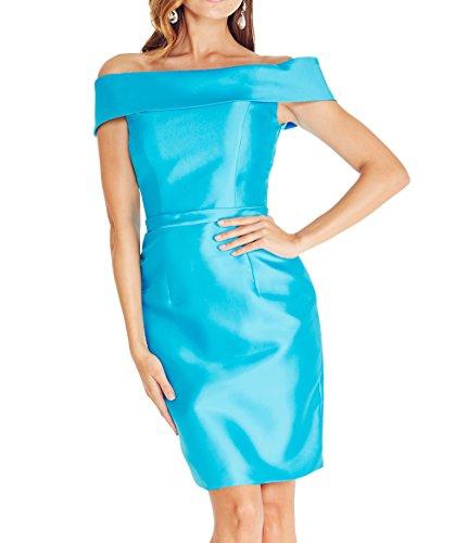 Mini Elegant Blau Schmaler Jugendweihe Schnitt Brau Partykleider Kurzes Kleider Abendkleider Cocktailkleider mia Etuikleider La wEIqSOS