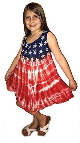 Teen Flag Dress (Riviera Sun American Flag Dress / Dresses for Girls G21719-14/16)