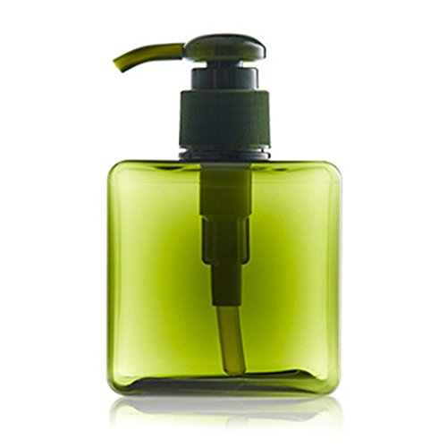 Price comparison product image 1Pc 250Ml Plastic PET Empty Soap Shampoo Pump Square Bottle Lotion Shower Dark Green 250ml
