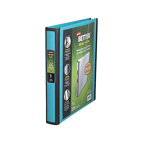 Staples 651740 Better 1-Inch D 3-Ring View Binder Teal (13466-Cc) (Staples Mini Binder)