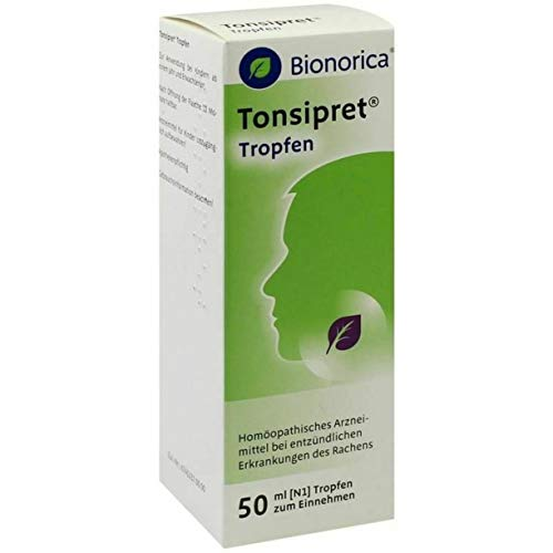 Tonsipret Oral Drops 50ml Inflammation of Throat and tonsils tonsillitis, Laryngitis, Pharyngitis, Sharp Pain in The Throat, Sore Throat