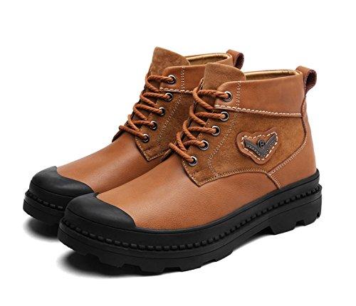 TMKOO Winter männer Plus Samt Schuhe High Top Schuhe Warme Schneeschuhe Martin Stiefel männer Stiefel männer Schuhe Stiefel (Farbe : Braun, Größe : 41)