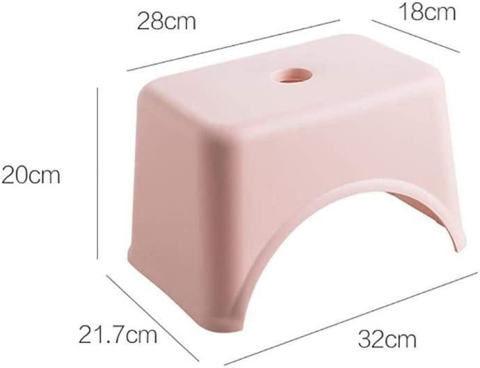 generio Thicken Plastic Square Stool Children'S Low Stool Living Room Small Bench Home Adult Change Shoes Stool Kids Gift Ivory