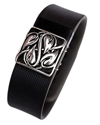 Fitbit bling jewelry accessory Charge HR activity tracker - Heart-leaf design