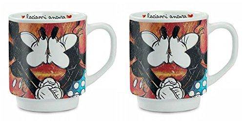 4 Pieces Egan WMSET//22 Sweet Love Mug and Placemat Set Red Porcelain