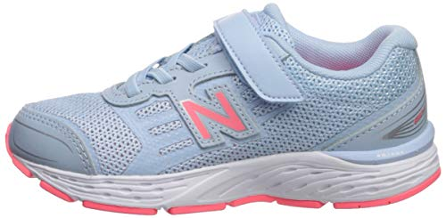 New Balance Girls' 680v5 Hook and Loop Running Shoe air/Guava 2 M US Infant by New Balance (Image #5)