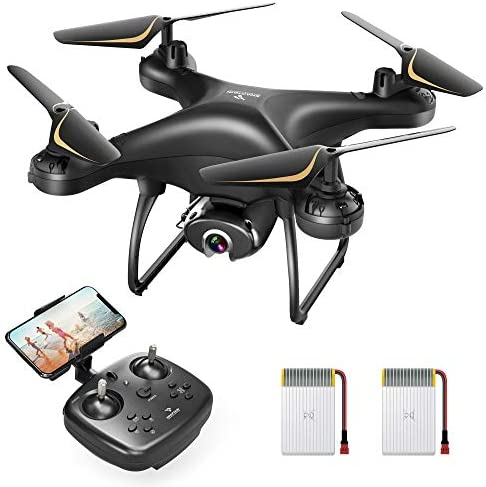 SNAPTAIN SP650 1080P Drone with Digital camera for Adults 1080P HD Reside Video Digital camera Drone for Learners w/Voice Keep watch over, Gesture Keep watch over, Circle Fly, Prime-Pace Rotation, Altitude Hang, Headless Mode