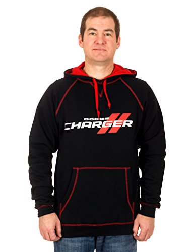 Men's Dodge Charger Pullover Hoodie (Medium) (Mens Dressy V Neck 3xl Sweater)