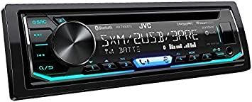 JVC KD-T905BTS 1-DIN CD Receiver Featuring Bluetooth Front Rear Dual USB SiriusXM Pandora Spotify