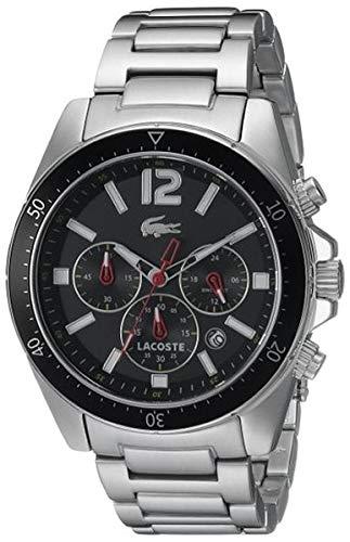 Lacoste 2010854 - Reloj de silicona para hombre, color blanco/azul: Amazon.es: Relojes