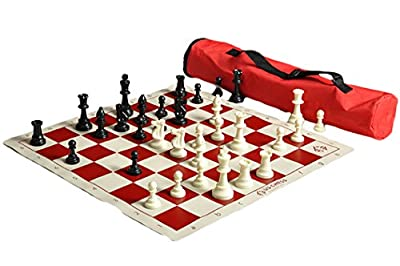 US Chess Federation's Quiver Chess Set Combo - Red