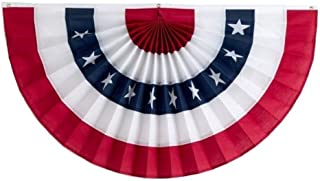 product image for Independence Bunting – 2' x 4' American Made Nylon Flag Bunting. Patriotic Bunting Banner with Embroidered Stars & Sewn Stripes!