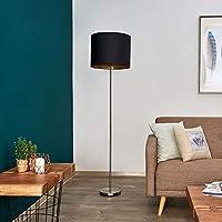 Lámpara de pie Salma (Moderno) en Negro hecho de Textura ...