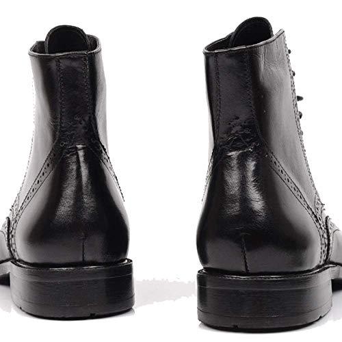 Lavoro Stile Stivali Uomo da Europeo di all'Usura Resistente Pelle Black Martin da Stivali Centrali E in Americano Stivali Moda Scarpe AO7vq7