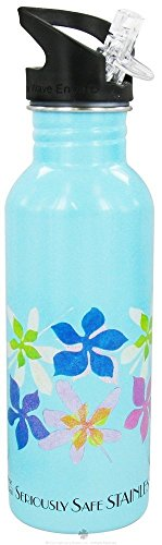 New Wave Enviro NEW-WAVE-ENVIRO-82025 Stainless Steel Insulated Bottle, Floral, 20 oz.
