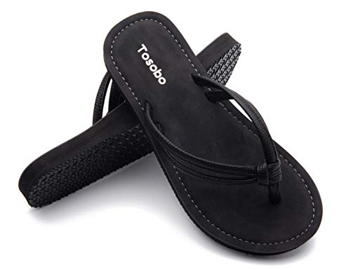 Flip Flops for Women with Memory Foam Comfort Casual Sandals Slim Thong Slippers with Non-Slip Rubber Sole
