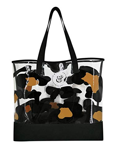 Charlotte & Emerson Travel, Cosmetic & Canvas Bags (Tote, Leopard) Shopping, Beach, Travel Organizer
