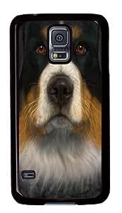 Bernese Mountain Dog Face Custom Samsung Galaxy S5/Samsung S5 Case Cover Polycarbonate Black