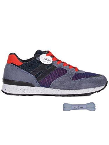 Hogan Mannen Hxm2610r676ihs0pd3 Blauwe Suède Sneakers