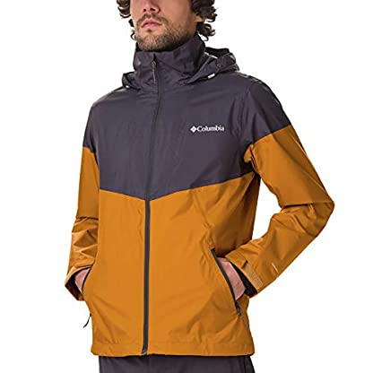 Columbia Herren Inner Limits Regenjacke, Gelb/Grau (Burnished Amber, Shark), L 3