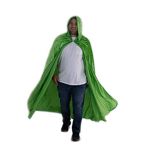 Everfan Green Hooded Cape | Cloak with Hood for Halloween, Cosplay, Costume, Dress Up -