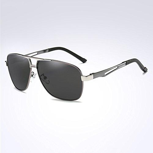 UV La Libre Luz Plata Hombres Aire Protección Caja WYYY 100 Gafas Conducción Gafas De Gafas UVA De Sol Polarizada Clásico Protección Solar Negro Cuadrada Color Anti 4xOwqxRSz