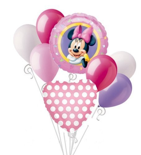 Minnie Mouse Balloon Bouquet Set Birthday Baby Shower Party Decoration 8pcs -