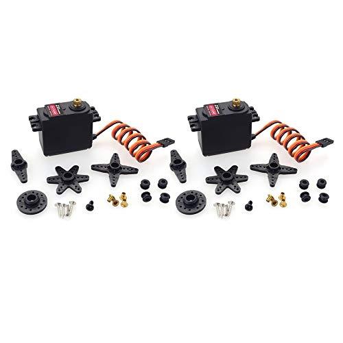 Titanicol ZD Racing M1500 15KG Standard Steering Gear w/Copper Teeth for RC Car 2PCS Black