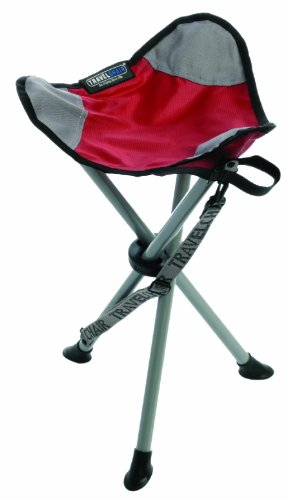 TravelChair Slacker Chair Folding Tripod Camp Stool, Red (Portable Travel Camping Chair)