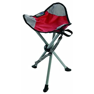 TravelChair Slacker Chair Folding Tripod Camp Stool, Red