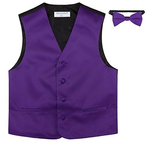 ow TIE Solid Purple Indigo Color Bow Tie Set Size 2 ()