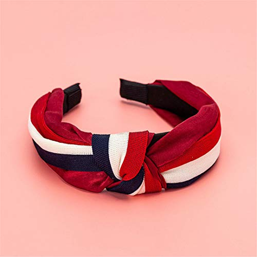 White Red Stripe Knotted Headband Hairband For Women Girl Bow Hair Hoop Hair Headwear Dropshipping Red white