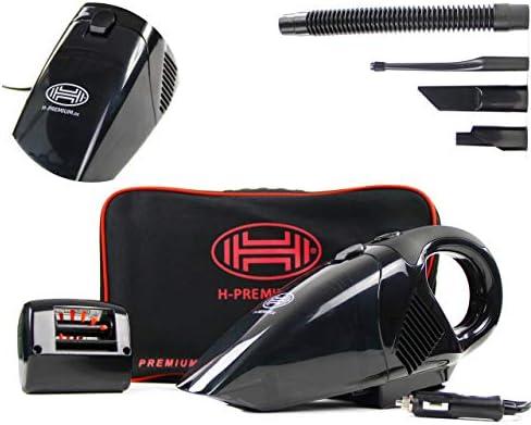 Heyner DualPower PRO - Aspirador de coche portátil de 12 V con cepillo motorizado: Amazon.es: Coche y moto