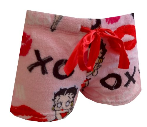 OXO Hugs And Kisses Pink Plush Sleep Shorts (Large) ()