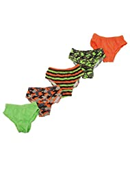 Childrens Boys Camouflage Patterned Underwear Briefs (Pack Of 5)