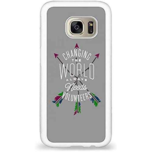 Customized Words Inspire, Changing the world always needs volunteers back phone cases for Samsung Galaxy S7 Sales