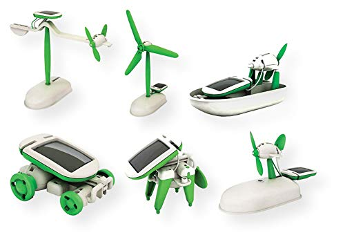 (OWI OWI-MSK610 6-in-1 Educational Solar Kit, Includes Airboat, Windmill, Puppy, Car and Planes)