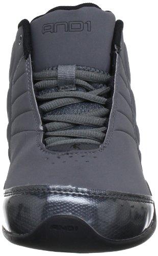 E 1 Mens Rocket 3.0 Mid Basketball Shoe Grigio / Nero