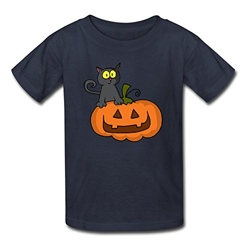 Youth's 2016 Halloween Pumpkin Carving Logo Tshirts Navy (2016 Pumpkin Carving Ideas)