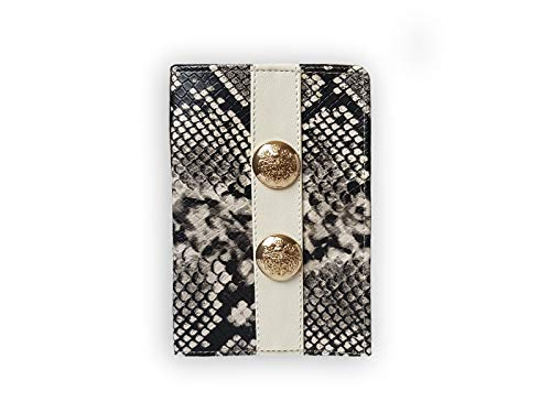 MARIA GALANHandmade Eco-friendly Leather Passport Wallet, Case, Holder, Cover for Travel Journey. (snake) (Snake Card Case)