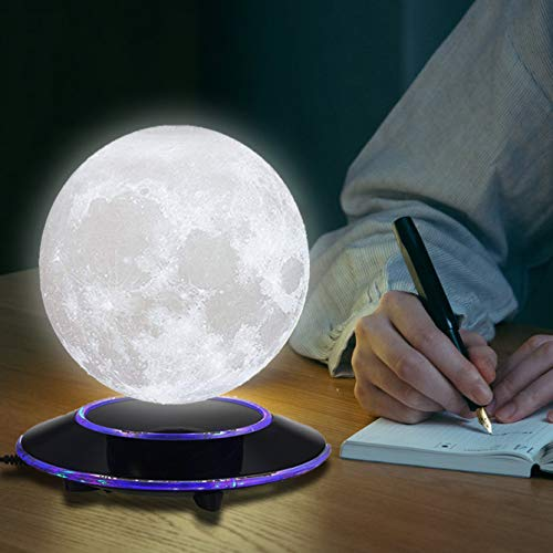 mono living Magnetic Levitating Moon Lamp Night Light 3D Print LED Auto Rotate Birthday Father's Day Gift Gift for Him Her Mother Family Couple Daughter TeenGirl Boyfriend Girlfriend 5.9'' by mono living (Image #8)